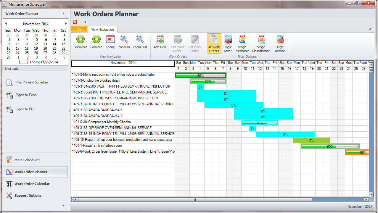 Maintenance Coordinator Work Orders And Scheduler Module